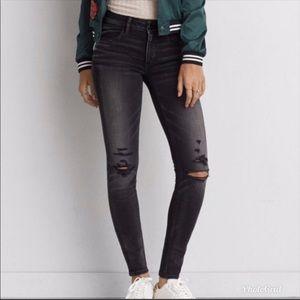 American eagle Super stretch distressed jeans 14